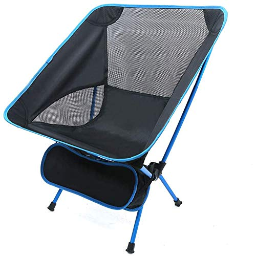 Camping Chair, Ultra Light Garden Chair Folding Fishing Chair - Heavy Duty 150kg Portable Outdoor Chair Suitable for Outdoor/Camping/BBQ/Beach,Cyan