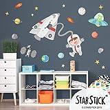 Vinilo niño Astronauta en el espacio - Vinilos infantiles - T0- Basico