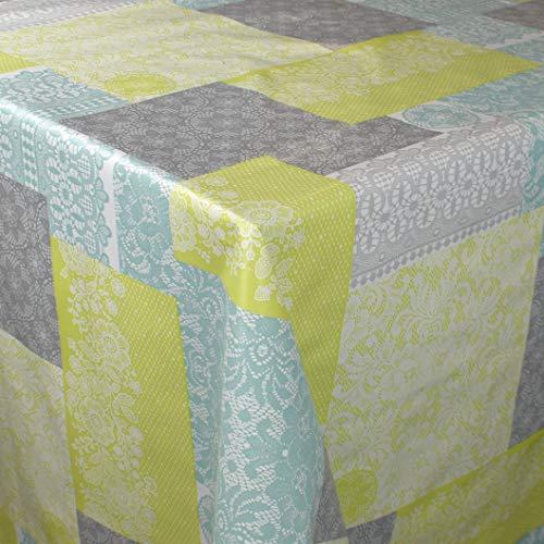 Kevkus C141164 - Mantel de hule, diseño de flores, Borde: Corte de borde (sin bordes), multicolor, 110 cm rund