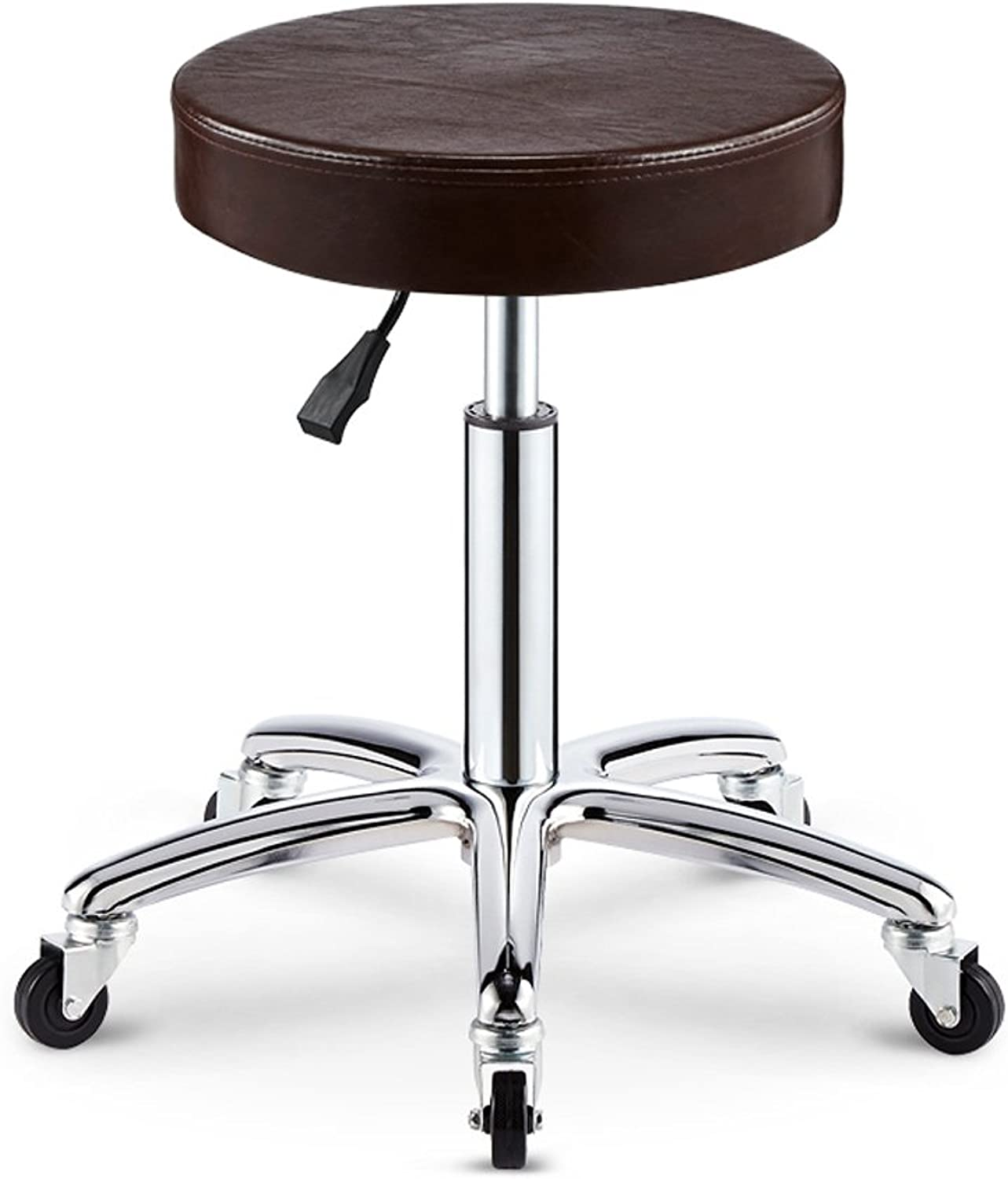 Adjustable Rolling Pneumatic Stool for Massage Tables, Examination Tables, and Physician's Office (Black) (color   5)