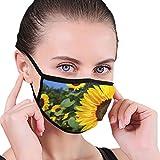 Máscara de la mitad de la cara de la tela del girasol con las orejeras anti polvo anti niebla máscara a prueba de viento