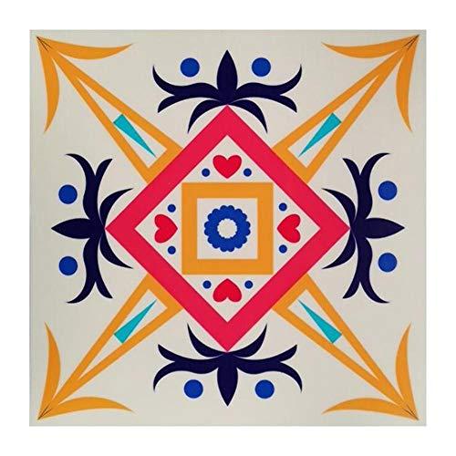 Vinilo autoadhesivo de PVC estilo retro marroquí, impermeable, para azulejos de baño, cocina, para decoración del hogar, azulejos de cerámica, baño, restaurantes, cocinas, etc.