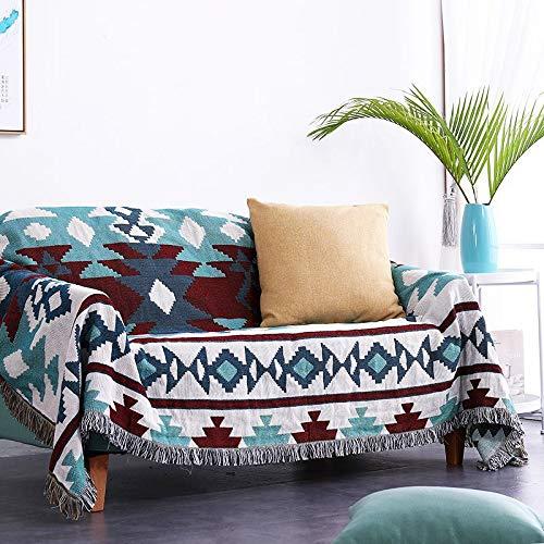 Manta Protectora para sofá, Morbuy Manta de sofá Cálida y Gruesa Manta de Hilo de algodón Suave Sofá A Prueba De Polvo Manta De Liviana for Cama o sofá (160x220cm,Geometría)