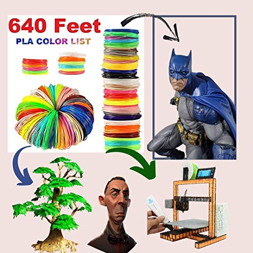 3D Pen Filament 1.75mm Refills for Smooth and Durable Print /3D Printer Filament Pack of Total 20 Colors 15 Random Color + 5 Special Glowing Colors. Premium Quality Total 640 Feet Lengths