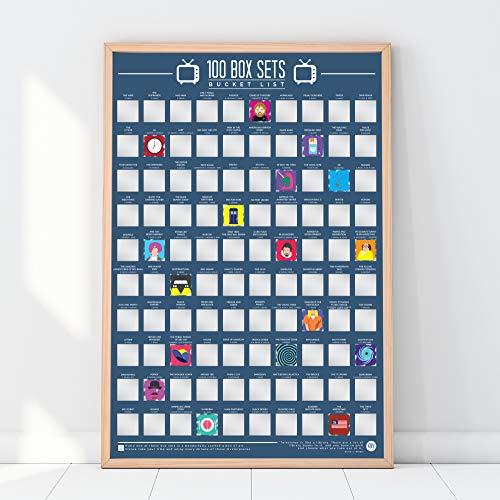 100 Box Sets, Poster con finestrelle da grattare