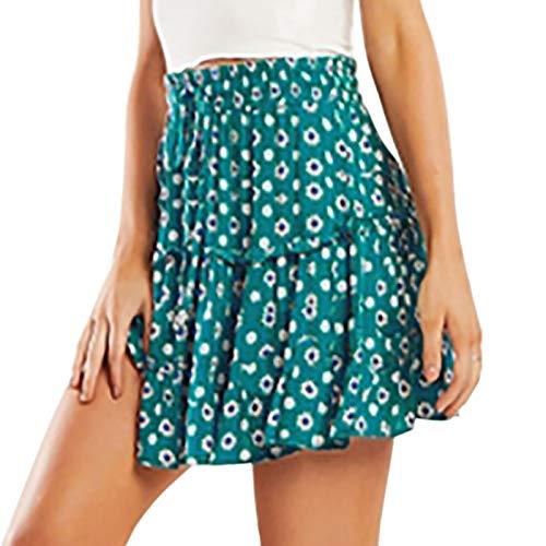 U.Expectating-Home Falda con Cordones Una Línea con Volantes Estampada Informal para Mujeres Y Niñas Faldas Deportivas Tenis Escolares Estilo Femenino Lindo
