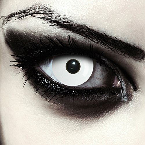Weiße farbige Zombie Kostüm Kontaktlinsen
