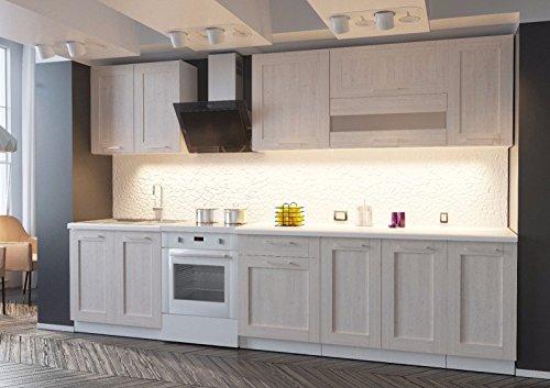 naka24 NEU komplette Küche MOHITO 260 cm Lärche Sibia matt