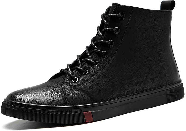 QIDI Martin Stiefel Stiefel Stiefel Männer Hohe Hilfe Flache Spitze Geschäft Tourismus Stiefelies (größe   US10.5 EU42 UK8.5) 085ee7