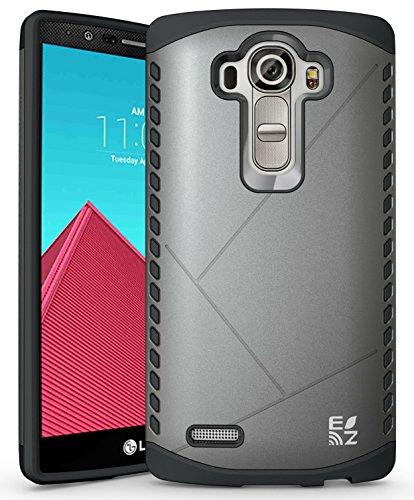 ECOZ [SHIELDX LITE] Slim Protective Dual Layer Armor Case Cover for LG G4 (Gray)