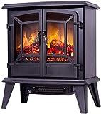 Calentador Cocina eléctrica Chimenea - 3D de Madera y de Efecto de Fuego Chimenea Decoración electrónica Chimenea Core Villa Retro pequeño Calentador, Gas y calefacción