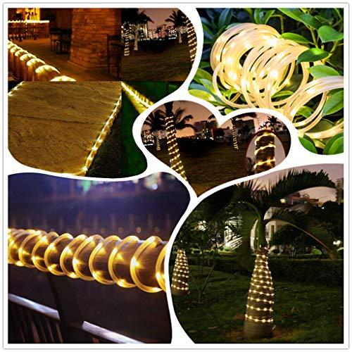 LED Lichtschlauch, 100 LEDs Lichterschlauch IP65 Wasserfest, 8 Modi Innen & Außenlichterkette, Lichterkette Strombetrieben mit EU-Stecker für Innen Außen Party Hochzeit Deko [Energieklasse A++] (Gelb)