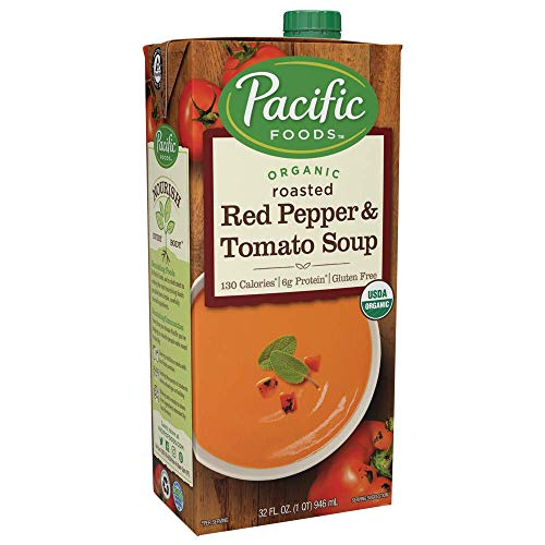 Pacific Organic Soup, Roasted Red Pepper & Tomato, 32 Oz. (Pack of 4)
