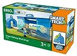 BRIO World 33918 Smart Tech Eisenbahn-Werkstatt – Lok-Werkstatt & Action-Tunnel mit Sound-Effekten – Interaktives Spielzeug empfohlen ab 3 Jahren