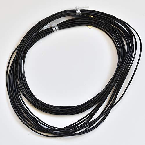 Cordón de piel griega de 2 mm, rollo de 10 m, color negro