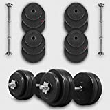 We R Sports 10KG Dumbbell Set Vinyl Gym Free Weights Biceps Fitness Dumbbells (Set)