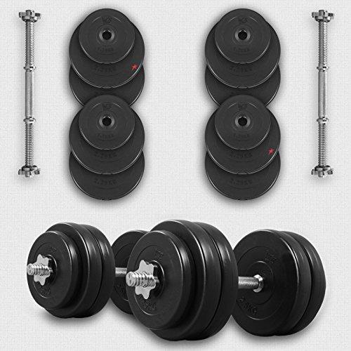 We R Sports 10KG Dumbbell Set Vinyl Gym Free Weights Biceps Fitness Dumbbells (Set)