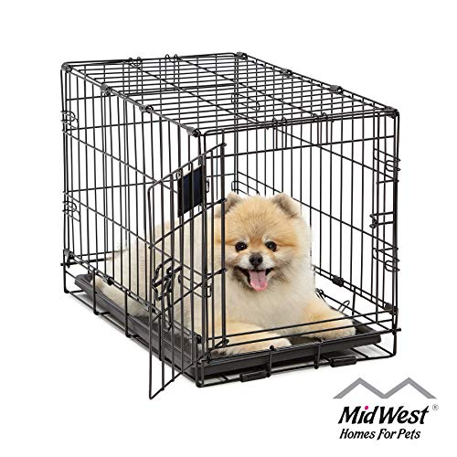 Dog Crate | MidWest Life Stages XS Folding Metal Dog Crate | Divider Panel, Floor Protecting Feet, Leak-Proof Dog Tray | 22L x 13W x 16H inches, XS Dog Breed | 20% AmazonPets Basic Brands Crates Dog for Free Friendly from Homes Keep love Midwest on Pet Prime products Save Select Selection Selections Shipping Supplies Them to Top Two-Day up Waiting? we Why