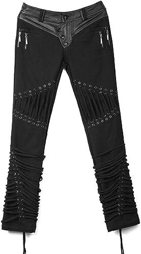 Punk Rave Pantalon Noir avec Lacets Gothique Rock k-174