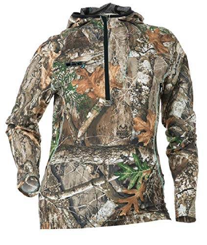 DSG Outerwear Women's Ultra-Lightweight Bexley Ripstop Tech Shirt with Realtree Camo Edge (X-Large)