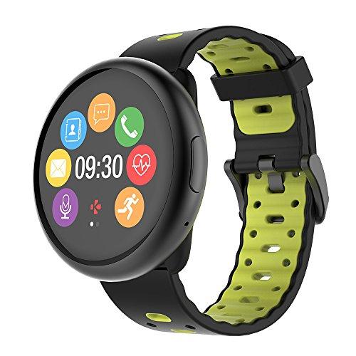 MyKronoz Kronoz ZEROUND 2 HR Premium Smartwatch, Schwarz und Gelb