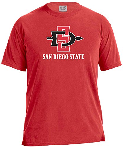 NCAA San Diego State Aztecs Basketball Energy Short Sleeve Comfort Color Tee, Small,Red