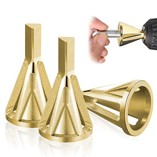 3 Stück Entgratwerkzeug für Außenfasen, Deburring Chamfer Tool, Bohrer Zubehör, Entgraten Außenfase Werkzeug für Metallaußendurchmesser (Set 2)