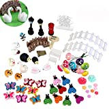 BESTOMZ 58pcs Miniaturgarten Fairy Ornament für DIY-Puppenhaus Kit Dekor