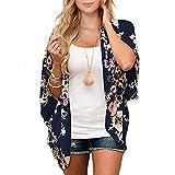 Durio - Kimono para mujer, blusa corta de verano para playa,