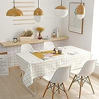 北欧 テーブルクロス テーブルカバー, 防水防油 撥水 厚手 (色 : E, サイズ さいず : 85*85cm)