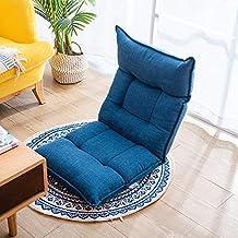 Folding Single Lazy Sofa Adjustable Back Floor Chair Bedroom Balcony Lounge Chair Multiangle Comfortable Durable Sofa,E