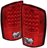 Spyder Auto (ALT-JH-DR02-LED-RC) Dodge RAM Red/Clear LED Tail Light - Pair