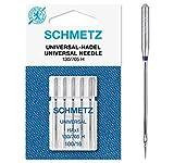 Schmetz Agujas para Máquinas De Coser, Metal, Plata, Tamaño 100/16, 5