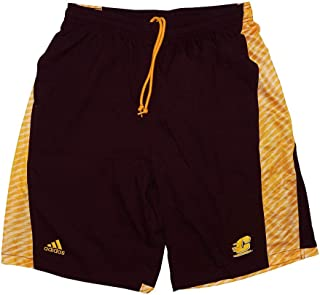 adidas Central Michigan Chippewas NCAA Mens Football Sideline Maroon Shorts