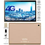 YESTEL Newest Android 10.0 Tablet Ultra-Fast 5G WI-FI Dual 4G LTE and 10.1 Inch and Octa-Core IPS Tablets : 3GB+64GB(128GB Expansion) Dual Camera, Google Certified(Verifiable and More- Gold