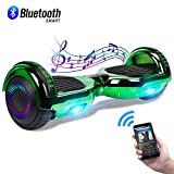 CBD 6.5' Hoverboard with Bluetooth Speaker, Self Balancing Hoverboard for Kids with LED Lights, UL 2272 Certified, Chrome Green