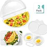 Omelet Pan and Egg Poacher for Microwave, Egg Omelette Maker Egg Poacher Cookware Microwave Cookware Easy Eggs, Dishwasher Safe Non-Stick