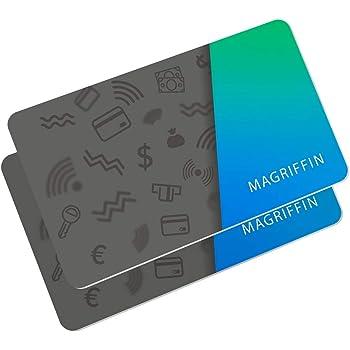 RFID Blocker Karte Schutz: Nur 0.7MM 2-Stück NFC Blocking Anti Skimming Kreditkarten Schutzkarte für EC Card Kreditkartenhüllen Geldbörse