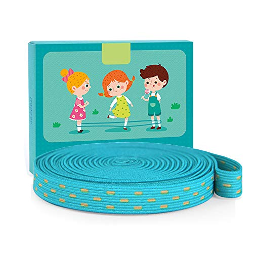 Luisea Chinese Jump Rope for Kids, Stretch Rope Kid Jump Rope with Instructions, Elastic Rubber Band, Indoor Outdoor Elastic Fitness Game