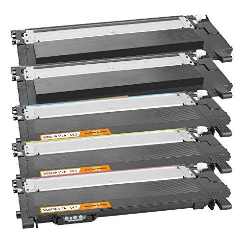 Tito-Express PlatinumSerie 5X Toner-Patrone XXL als Ersatz für HP W2070A - W2073A 117A | Kompatibel mit HP Color Laser 150 Series 150A 150NW MFP 170 178NW 178NWG 179FNG 179FNW