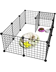 Pet Playpen Metal,Metal Pet Folding Playpen Dog Kennel Pets Fence Exercise Cage 12 Panels Metal Wire Yard Fence for Small Animals Dog Pets