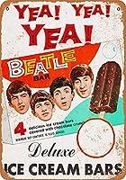 The Beatles Ice Cream カブトムシ メタルサインメタルポスターポストカード注意看板装飾壁掛壁パネルカフェバーレストランシネマボールルームミュージックフェスティバル