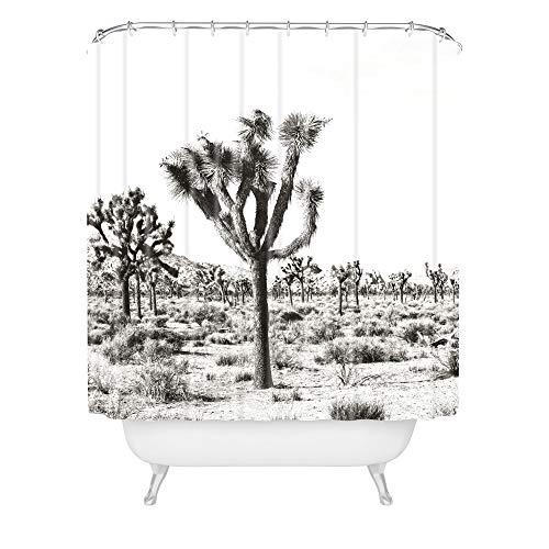 Deny Designs Bree Madden Duschvorhang Joshua Trees, 183 x 175 cm, Schwarz / Weiß