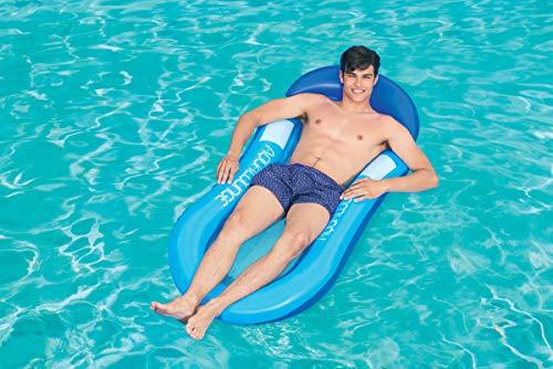 Bestway 43103 Matelas de plage avec fond filet hamac flottant Aqualounge  160 x 84 cm, 2 couleurs assorties