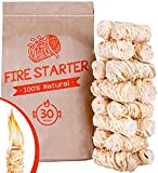 Fire Starters for Fireplace - Charcoal fire Starter - firestarters for Campfires/BBQ and Camp - eco Friendly Packing 30pc