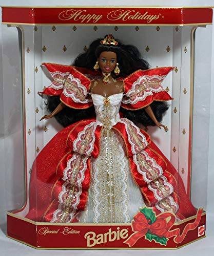 Mattel Barbie Happy Holidays 1997 Special Edition Barbie, African-american 10th Anniversary