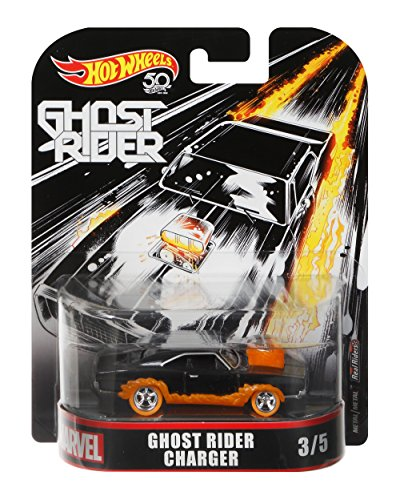 Hot Wheels Ghost Rider Charger Vehicle, 1:64 Scale