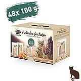 Wildes Land   Nassfutter für Katzen   Mix   48 x 100 g   Getreidefrei   Extra viel Fleisch   Beste Akzeptanz und Verträglichkeit