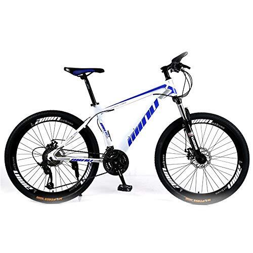 NOVOKART Mountain Bike da Strada 27,5 Pollici, MTB per Adulti, Bicicletta Hardtail con Sedile Regolabile,Bianco Blu, Ruota a Raggi, 21-Stage Shift