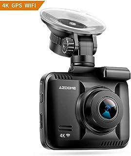 Cámara de Coche 4K 2160P con WiFi y GPSDashcam Grabadora Ultra HD de Ángulo Amplio 170° con G-SensorMonitoreo de estacionamientoDetección de MovimientoGrabación en Bucle